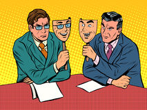 Business dialogue is disingenuous communication Stock Photo
