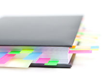 Business diary with a colored tabs Stock Photo
