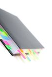 Business diary with a colored tabs Royalty Free Stock Photos