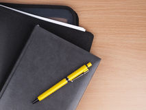 Business diary, folder and pen Royalty Free Stock Photo