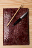 Business diary and pen Royalty Free Stock Image