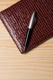 Business diary and pen Stock Photos