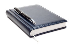 Business diary with pen isolated Stock Photo