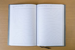 Business diary with a pen Stock Photo
