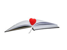 Business diary and red heart Royalty Free Stock Photo