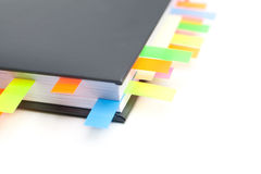 Business diary with a tabs. Isolated on white background Stock Image