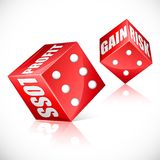 Business Dice Stock Image