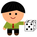 A business dice Royalty Free Stock Photos