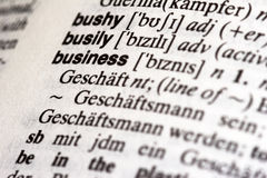 Business in dictionary royalty free stock image