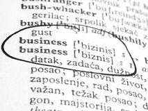 Business in the dictionary Stock Images