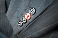 Free Business Difference / Red Suit Button Standing Out Stock Photography - 4294552