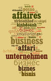 Business in different languages Stock Image