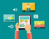 Business digital book and digital magazine concept Royalty Free Stock Image