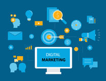 Business digital marketing concept Royalty Free Stock Photography