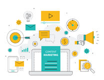 Business digital marketing and content marketing conept Royalty Free Stock Images