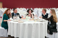 At business dinner Stock Photography
