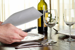 Business dinner Stock Image
