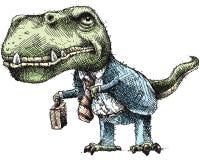 Business Dinosaur Stock Image