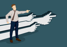 Business Direction Cartoon Vector Illustration Royalty Free Stock Image