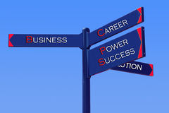 Business Directions. SignPost: business, career, power, success, solution Stock Image