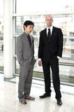 Business disagreement. A Chinese business men and a European business men disagree. An unsuccessful negotiation between China and Europe stock image