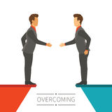 Business disagreement overcoming vector concept in flat modern style Royalty Free Stock Photography