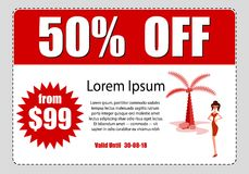 Business discount coupon. Vektor stock photography