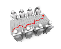 Business discussing and financial chart Stock Photography