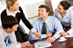 Business discussion Royalty Free Stock Photos