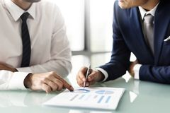 Business discussion deal venture people Stock Image