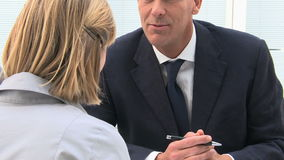 Business Discussion stock footage