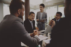 Business Discussion Meeting Presentation Briefing Stock Image