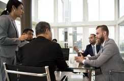 Business Discussion Meeting Presentation Briefing Concept Stock Photos