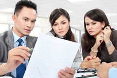 Business discussion in the office Stock Images