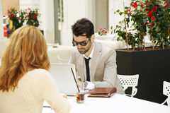 Business discussion Royalty Free Stock Photo