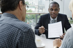 Business Discussion Talking Deal Concept Royalty Free Stock Photography