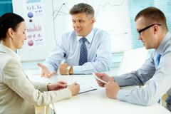 Business discussion Stock Images