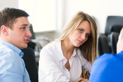 Business discussion. Royalty Free Stock Photo