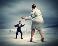 Business dispute Stock Image