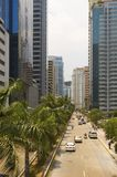 Business District. One of Manila's commercial and business districts Royalty Free Stock Photo