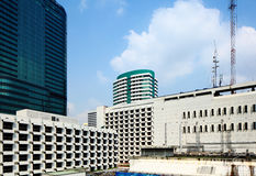 Business district in Bangkok Royalty Free Stock Image