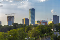 Business district in Bucharest Royalty Free Stock Photography