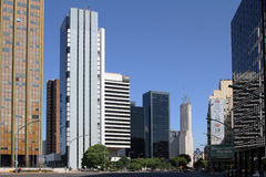 Business district in Buenos Aires Royalty Free Stock Photography