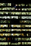 Business district buildings reflexions at night Stock Photography