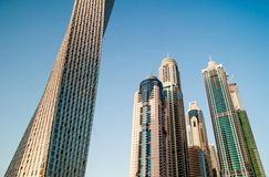 The business district of Dubai Royalty Free Stock Image