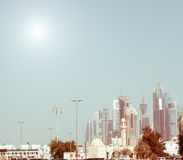 Business district of Dubai Stock Photos