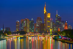 Business district in Frankfurt am Main Royalty Free Stock Image