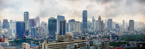 Business district with high buildings Stock Photo