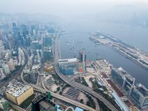 Business District of Hong Kong Royalty Free Stock Images