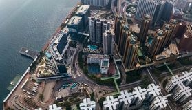 Business District of Hong Kong Stock Image